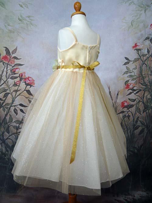 子供ドレス ポーラ ゴールド