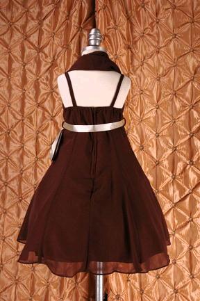 子供ドレス ドルチェ ブラウン5