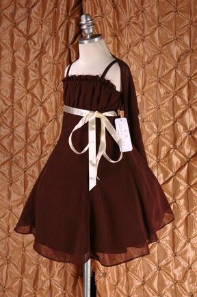 子供ドレス ドルチェ ブラウン4