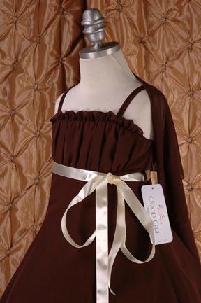 子供ドレス ドルチェ ブラウン3