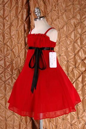 子供ドレス ドルチェ レッド4