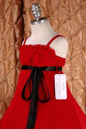 子供ドレス ドルチェ レッド3