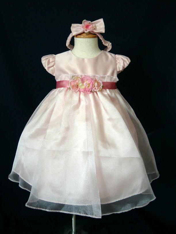 ベビードレス メグ ローズピンク2