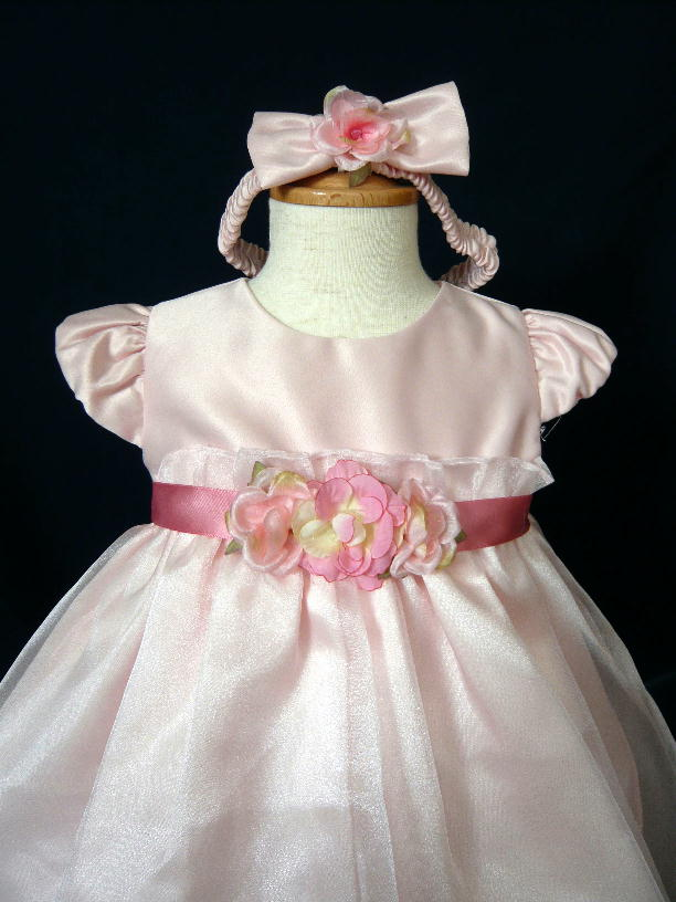 ベビードレス メグ ローズピンク3