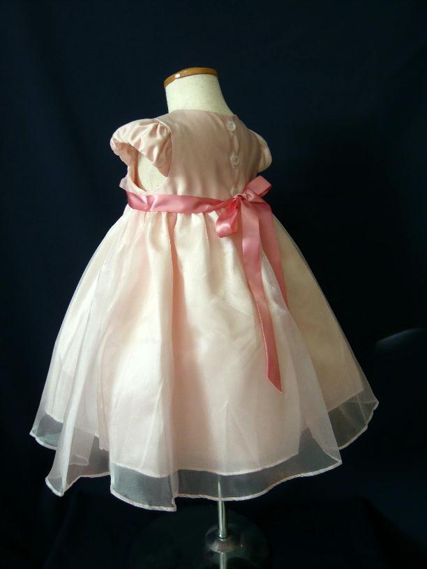 ベビードレス メグ ローズピンク5