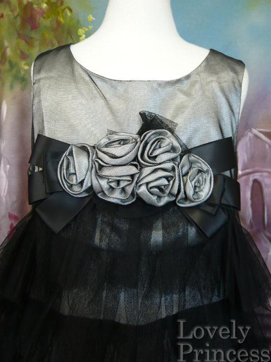 子供ドレス モード ブラック/シルバー(BONNIE JEAN)