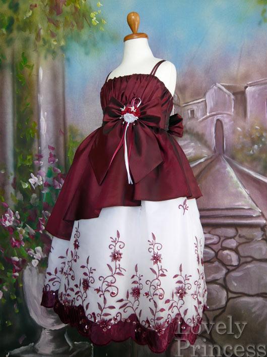 子供ドレス アシュリー バーガンディ