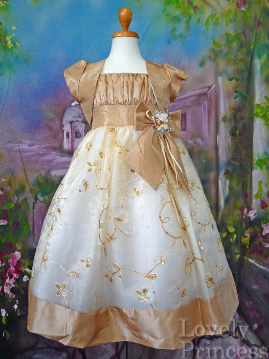 子供ドレス ブレンダ ゴールド