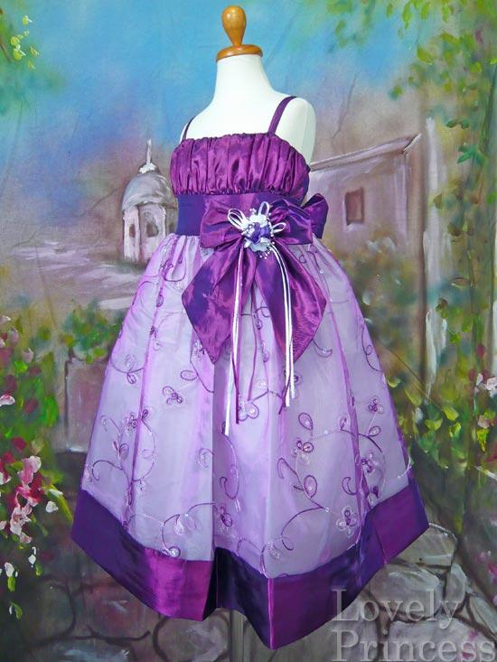 子供ドレス ブレンダ パープル