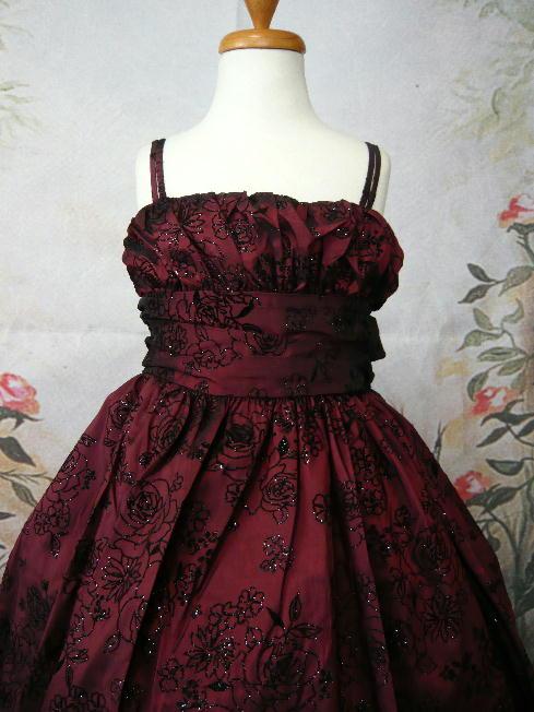 子供ドレス エレン バーガンディ