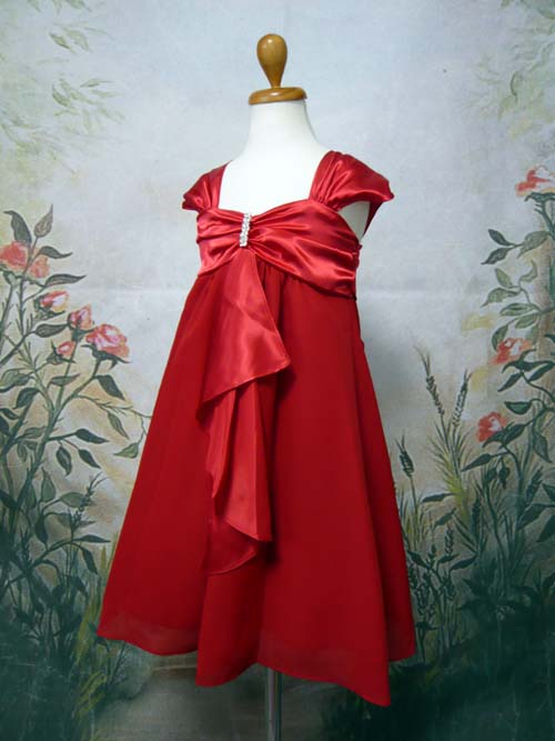 子供ドレス キャサリン レッド