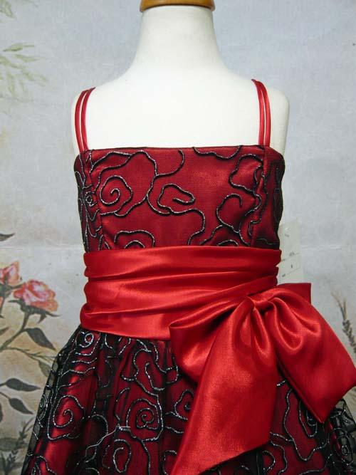 子供ドレス マーガレット レッド