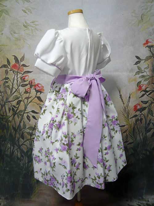 子供ドレス ホヌア ホワイト/ライラック