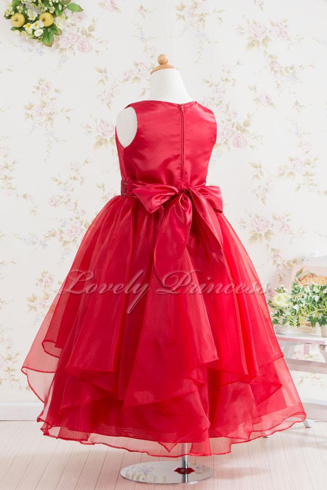 結婚式子供ドレス マデリンレッド