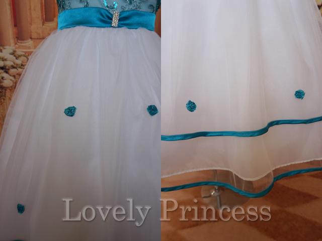 結婚式子供ドレス ビアンカ ティール