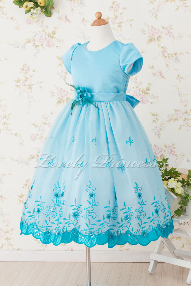 結婚式子供ドレス パトリシア アクアブルー
