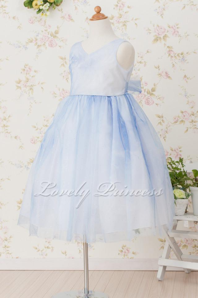 結婚式子供用ドレス ロレーヌ ブルー