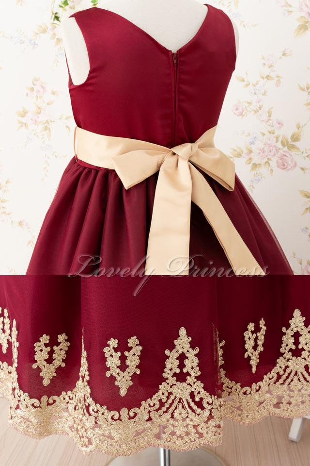 結婚式子供ドレス プリシラ バーガンディ
