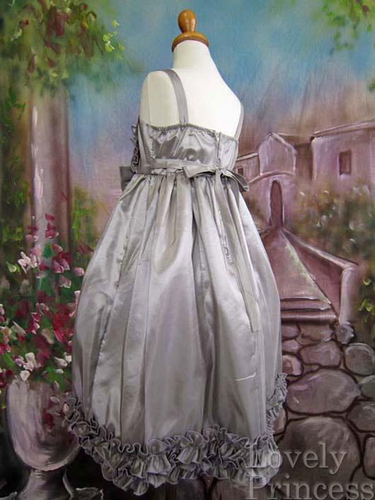 子供ドレス ソニア シルバー