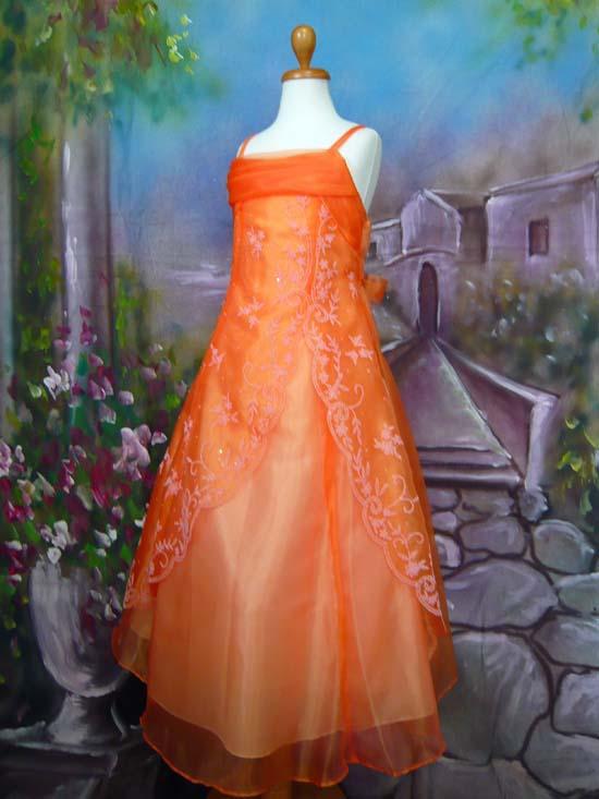 子供ドレス イブ オレンジ