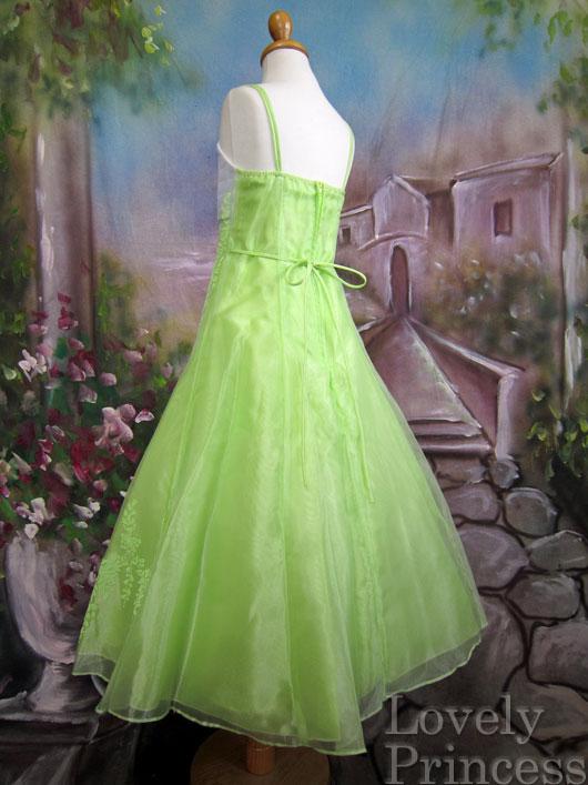 子供ドレス サファイア ライムグリーン