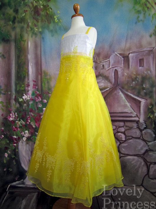 子供ドレス サファイア イエロー