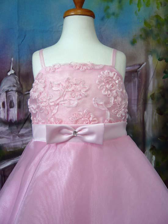 子供ドレス フローラル ピンク