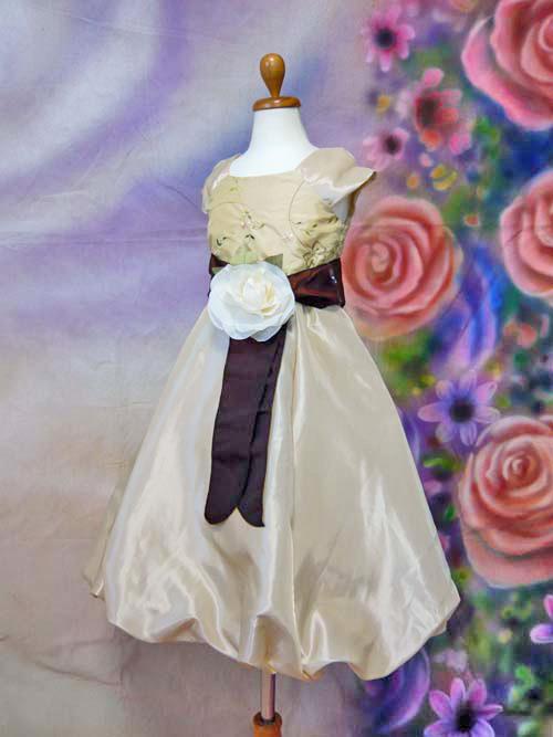 子供ドレス*CB2910 ゴールド:6T(120cm)サイズ