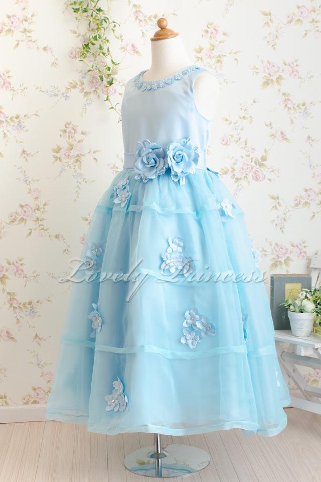 コンクール子供ドレス エレクトラ ブルー