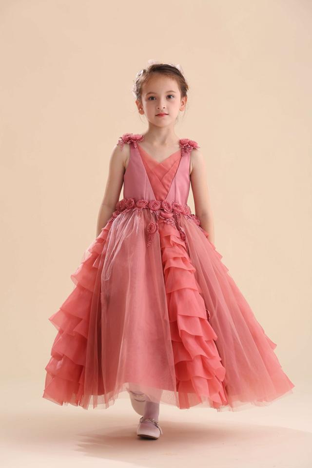 子供ドレス シャンテル ローズピンク