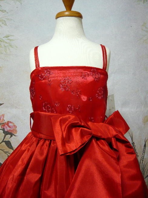 子供ドレス ローゼ レッド