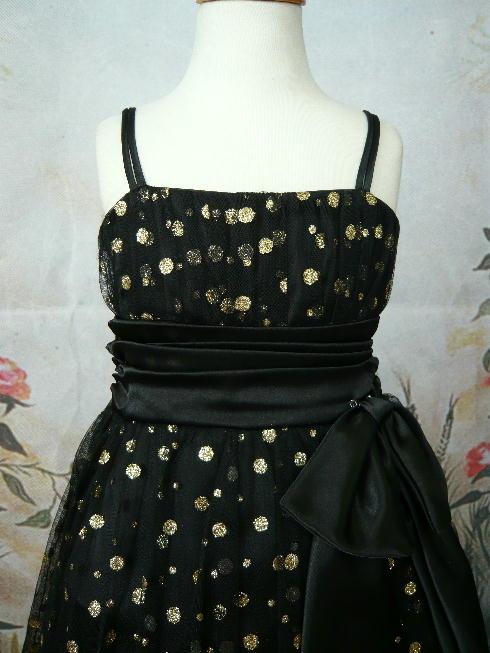 子供ドレス マチルダ ブラック/ゴールド