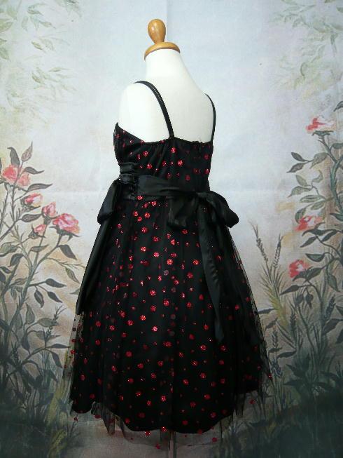 子供ドレス マチルダ ブラック/レッド