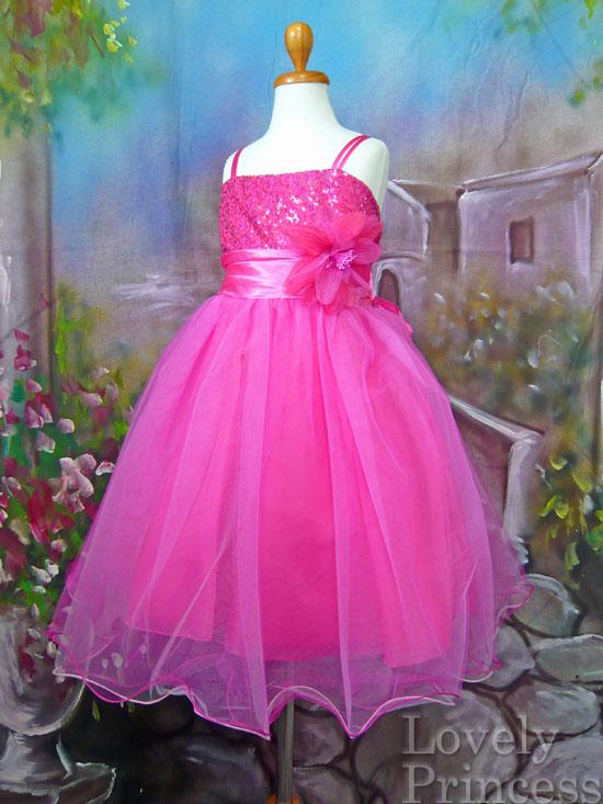 子供ドレス スザンヌ フューシャ/ピンク