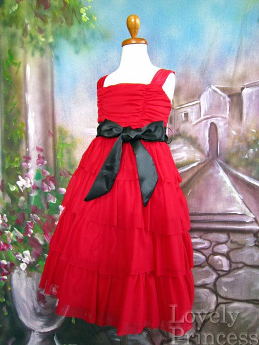 子供ドレス テレサ レッド