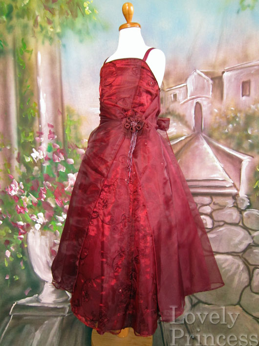 子供ドレス ビビアン バーガンディ