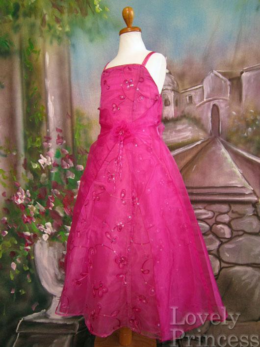 子供ドレス ビビアン フューシャ