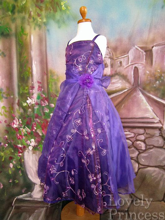 子供ドレス ビビアン パープル