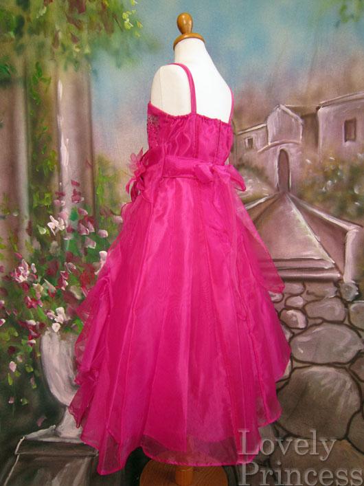 子供ドレス ヴァネッサ フューシャ