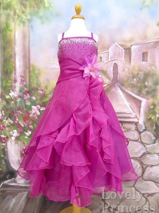 子供ドレス ヴァネッサ プラム