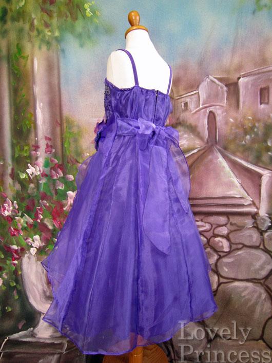 子供ドレス ヴァネッサ パープル