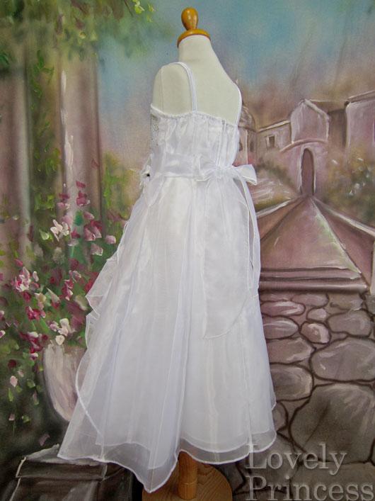 子供ドレス ヴァネッサ ホワイト