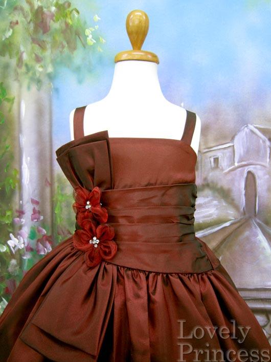 子供ドレス キャリー バーガンディ