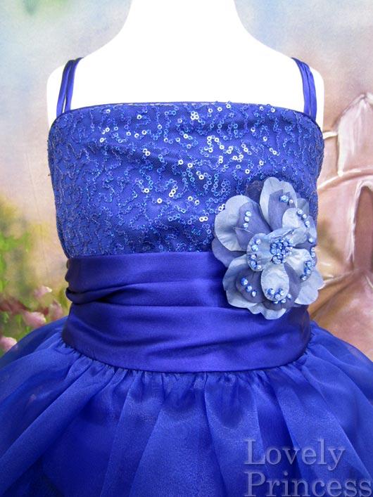ステージ衣装・結婚式に!子供ドレス フィービー ロイヤルブルー