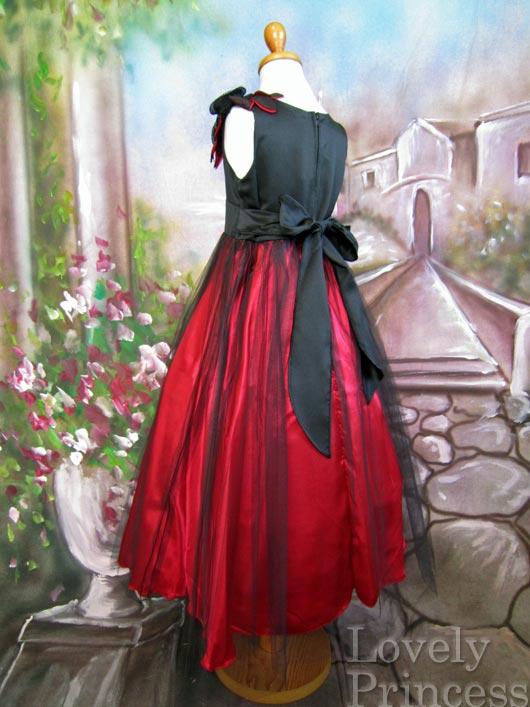 子供ドレス ジャスティン ブラックレッド