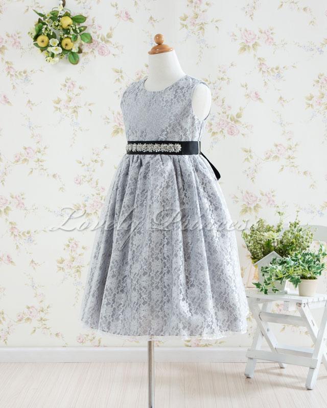 子供用ドレス セシル シルバー