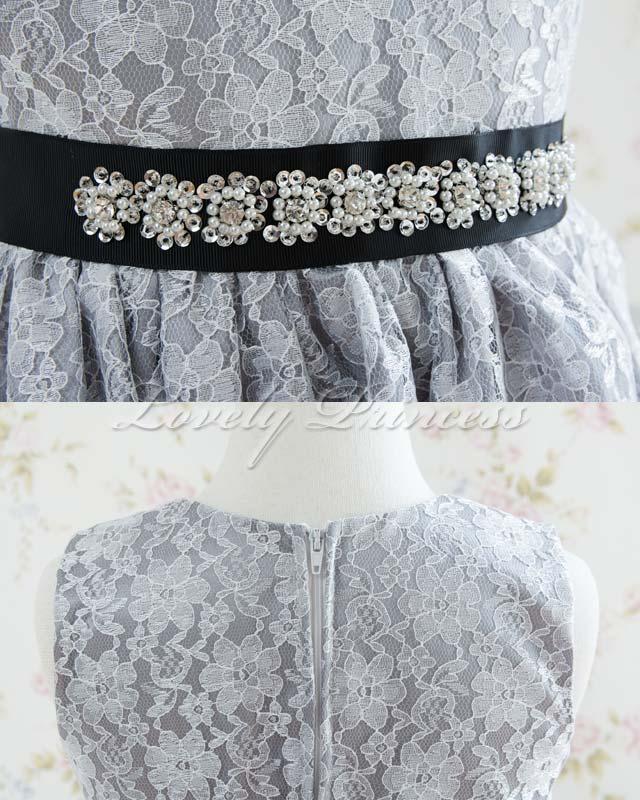 結婚式子供ドレス セシル シルバー