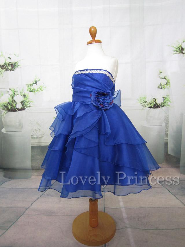 結婚式子供用ドレス メアリー ロイヤルブルー