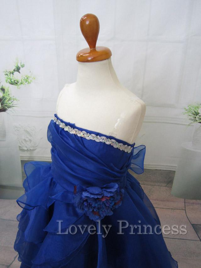 ステージ衣装子供用ドレス メアリー ロイヤルブルー