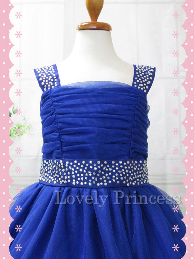 子供のドレス マチルダ ロイヤルブルー